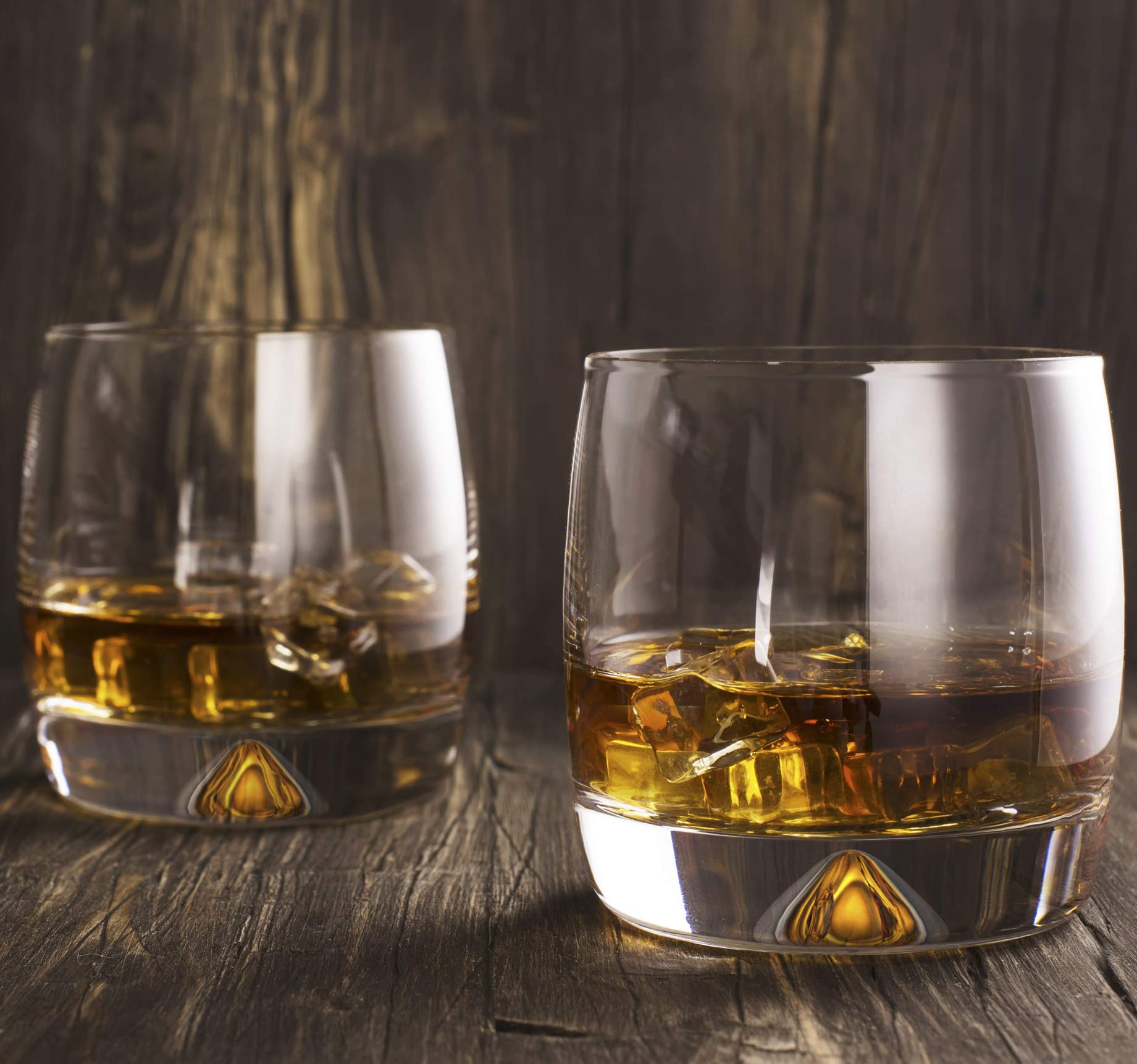 Premium Whiskey Glasses - Large - 12oz Set of 2 - Lead Free Hand Blown Crystal - Thick Weighted Bottom - Seamless Handmade Design - Perfect for Scotch, Bourbon, Manhattans, Old Fashioned's, Cocktails. by Mofado (Image #4)