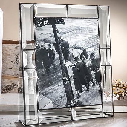 Amazon.com - J Devlin Pic 112-81V 8x10 Crystal Glass Picture Frame ...