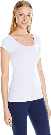 Sugarlips Women's Seamless Cap Sleeve Round Neck Tee