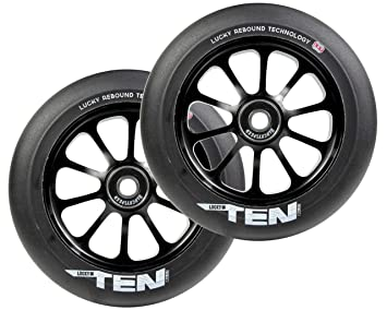 LUCKY Rueda Completa Patinete Ten 120mm (120mm - Negro/Negro ...