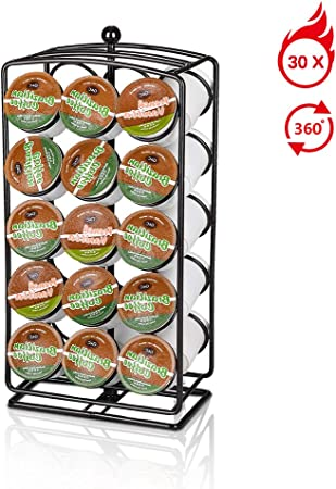 Girevole cromata 24 Capsule Caffè Pod Stand Torre Rack Per Dolce Gusto