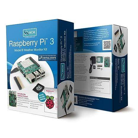 Amazon com: 83-16564RK - Raspberry Pi 3 Model B Weather