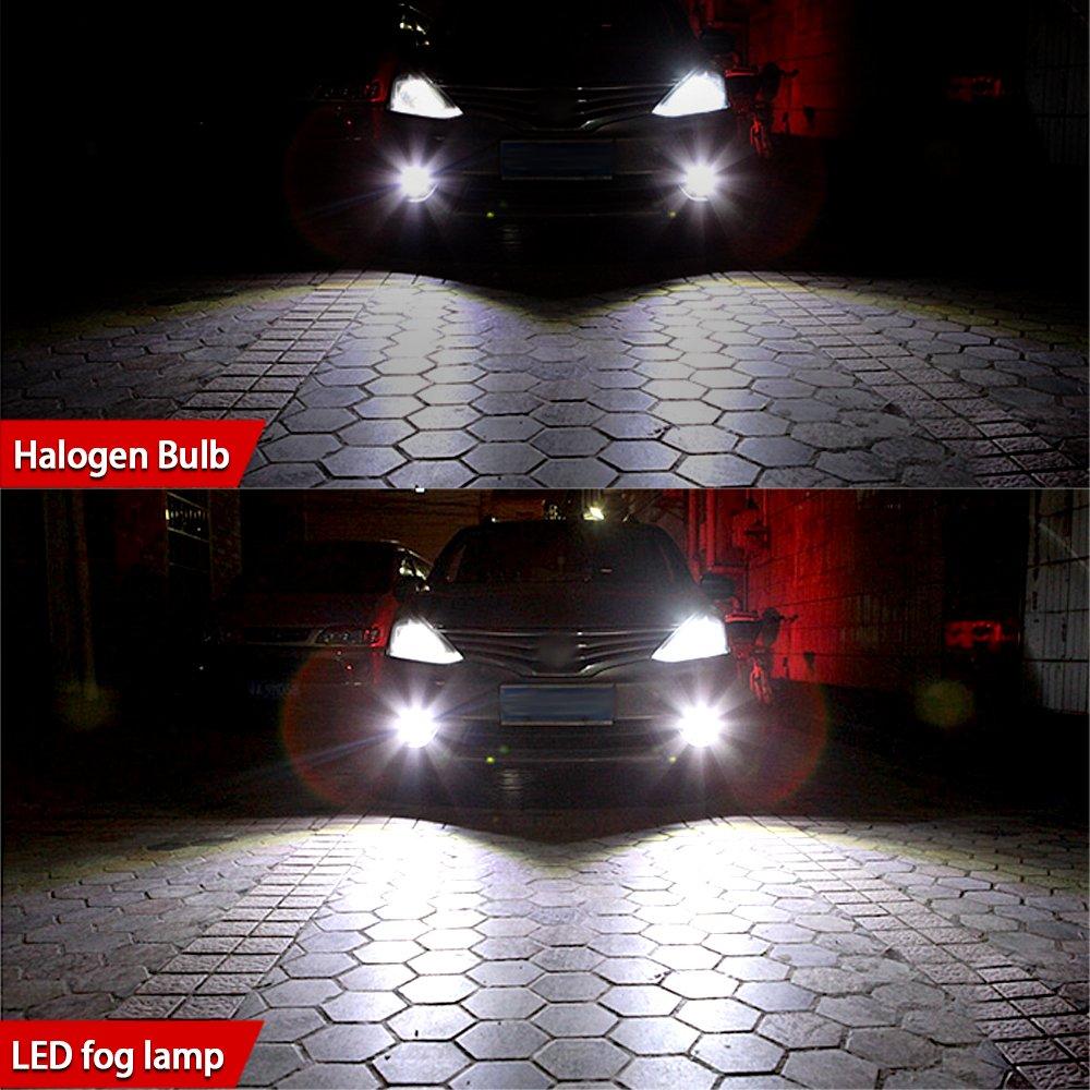 6000K White 2 Year Warranty Viesyled 9006 LED Fog Light Bulbs 2800 Lumens Super Bright 9006 LED Bulb 5730 33-SMD LED 9006 Bulb HB4 LED Fog Lights for Car Truck Van