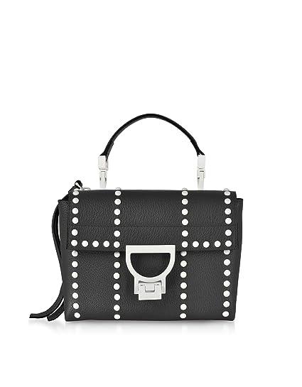 85616af7582f Coccinelle Women's E1dd755b701001 Black Leather Handbag: Amazon.co ...