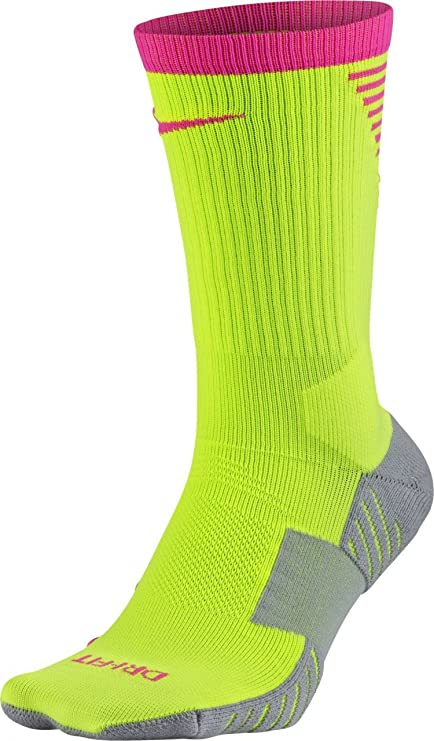 db4fafb67011 Amazon.com   Nike Squad Crew Football Sock  Volt  (S)   Sports ...