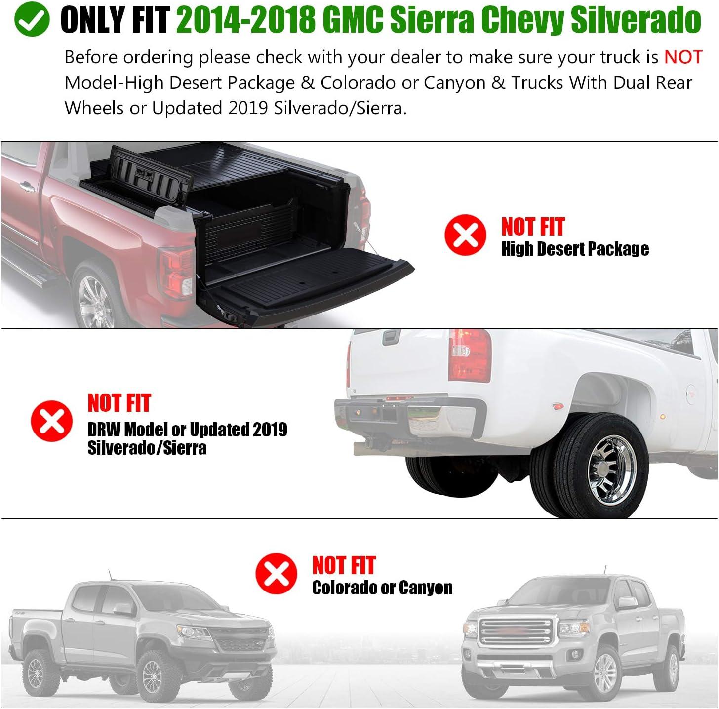 IBACP Fits 2014 2015 2016 2017 2018 GMC Sierra Chevy Silverado Truck Bed Rail Stake Pocket Covers Caps Rail Hole Plugs Odd Shaped
