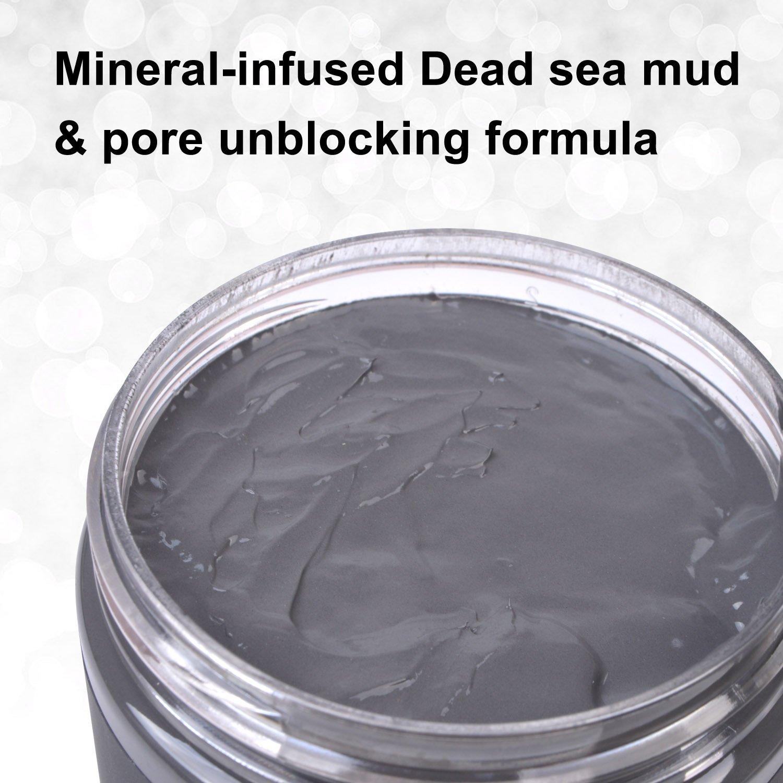Máscara de barro del Mar Muerto para el tratamiento facial - 100% natural y orgánica, para una limpieza profunda de la piel, limpia el acné y las espinillas ...