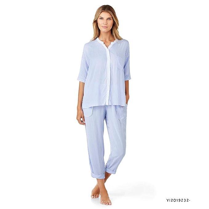 DKNY - Pijama entero - para mujer azul azul S