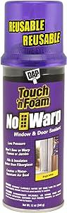 DAP 04000 Touch 'n Foam Warp Window & Door Sealant, 12 Oz, White, 12 Ounces
