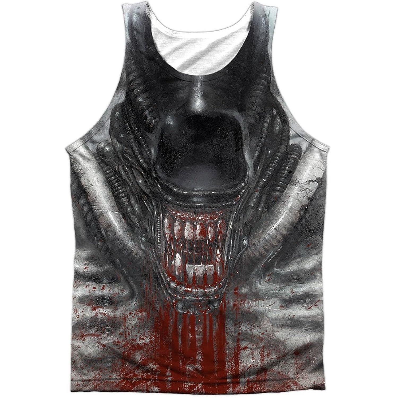 Alien 1979 Horror Sci Fi Movie Blood Drool Sketch Front Print Tank Top Shirt