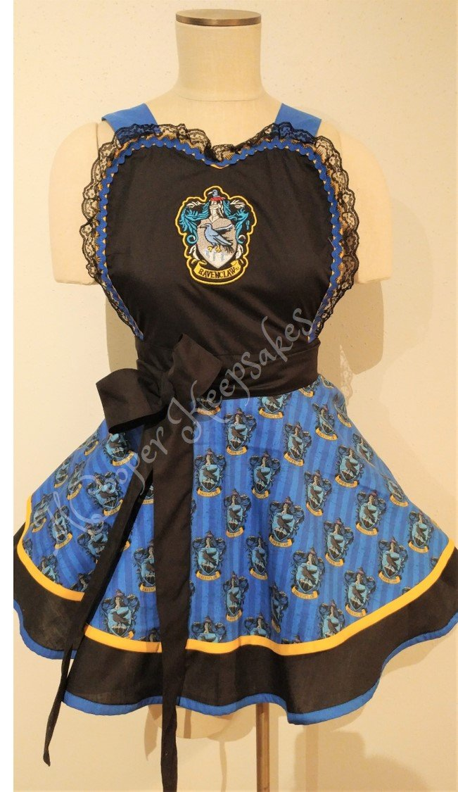 Harry Potter Inspired Apron - Ravenclaw - pinup apron by MCooperKeepsakes