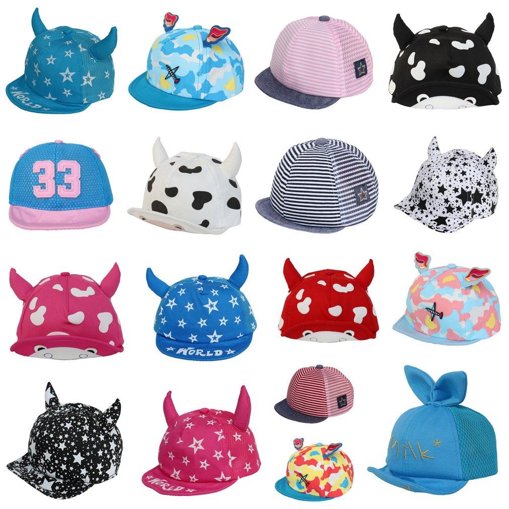 dbed5c210b6 COMVIP Baby Boys Girls Peaked Hat Soft Ear Baseball Sun Newsboy Cap Black   Amazon.co.uk  Clothing