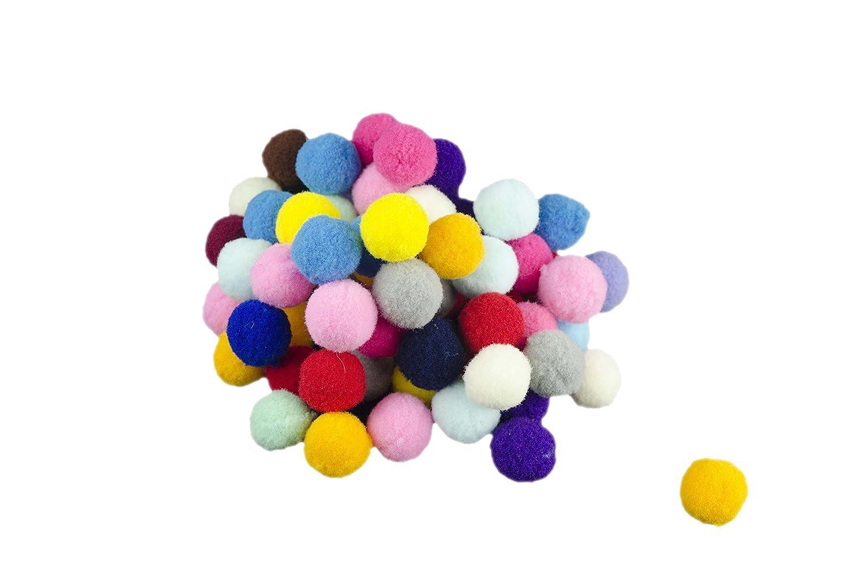 Farbige Kugeln - weiche Kugeln - 25 g - Polyester (Grö ß e 1, 5 cm) - ideal zum Dekorieren - fü r Ihre Kreationen.