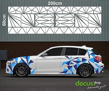 Camouflage Cyber Pixel Aufkleber Auto Sticker Tattoo Jdm 2 X 200 Cm