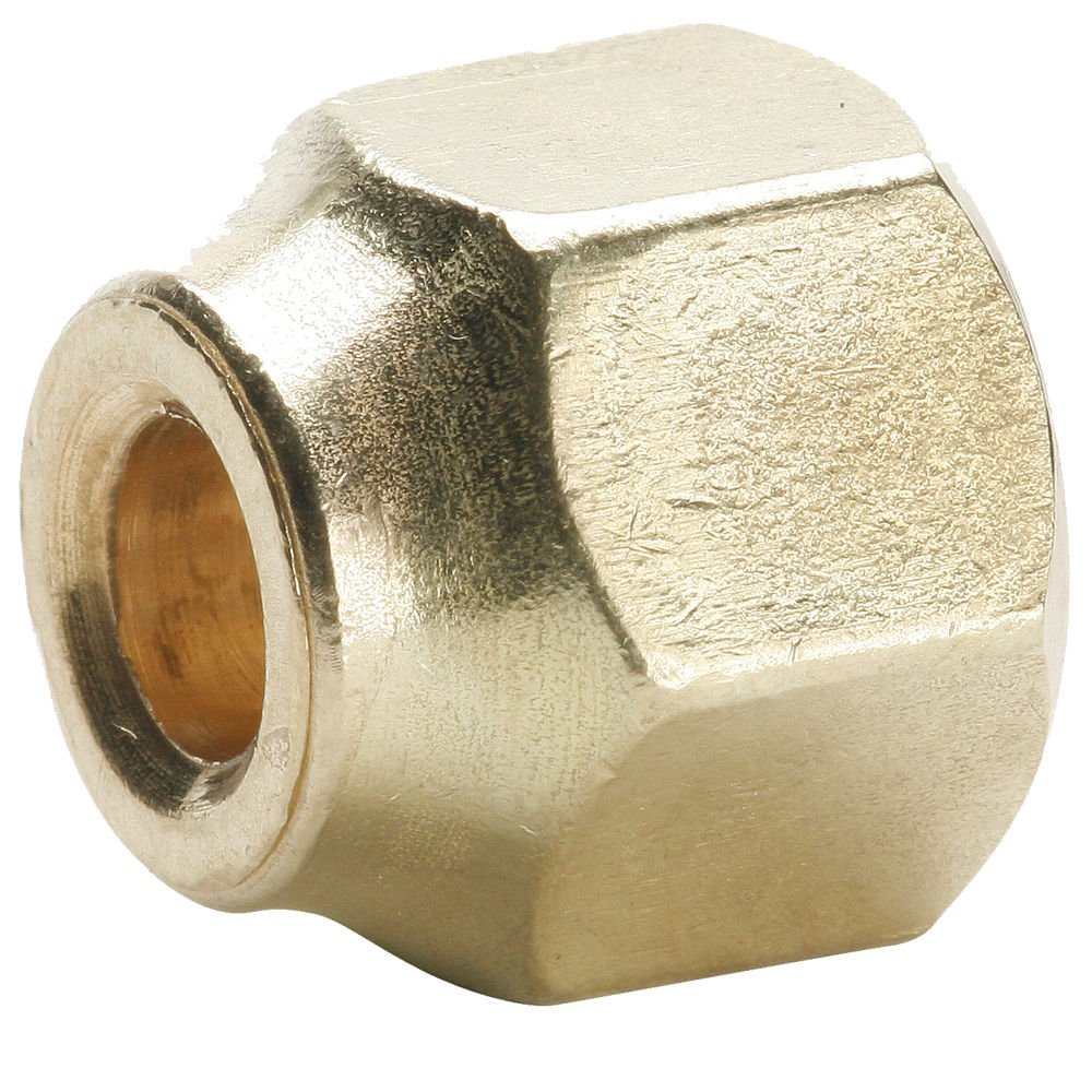 Parker 14FS-8-6-pk10 45 Degree Fitting, Tube to Tube, Flare Forged Reducing Nut, Brass, 1/2'', 3/8'' (Pack of 10)