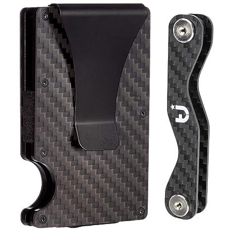 Carbon Fiber Minimalist Wallet   Key Organizer Set Includes Premium RFID  Blocking Slim Front Pocket Wallet 6d56abd59ab