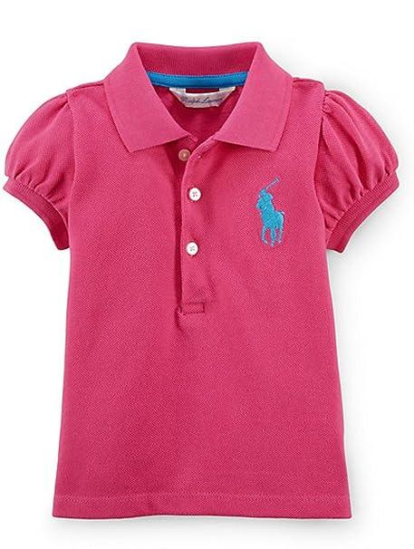 Amazon.com: Ralph Lauren Baby Girls\u0027 Big Pony Cotton Polo Shirt (3 MONTHS,  ACTIVE PINK): Clothing
