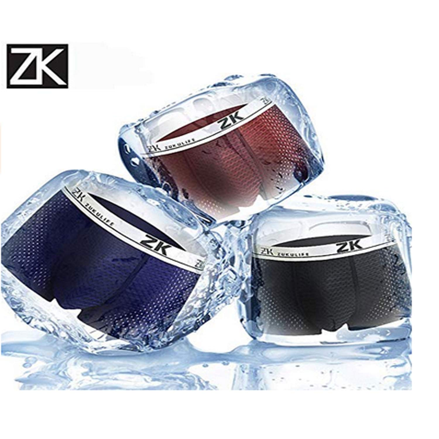 Z-synka Ice Silk Mesh Shorts Summer Thin Thin Dry Underwear Mens Shorts Pack of 4,Breathable Seamless Mens Underwear Set Soft Trunks Underpants Hipster Underpants
