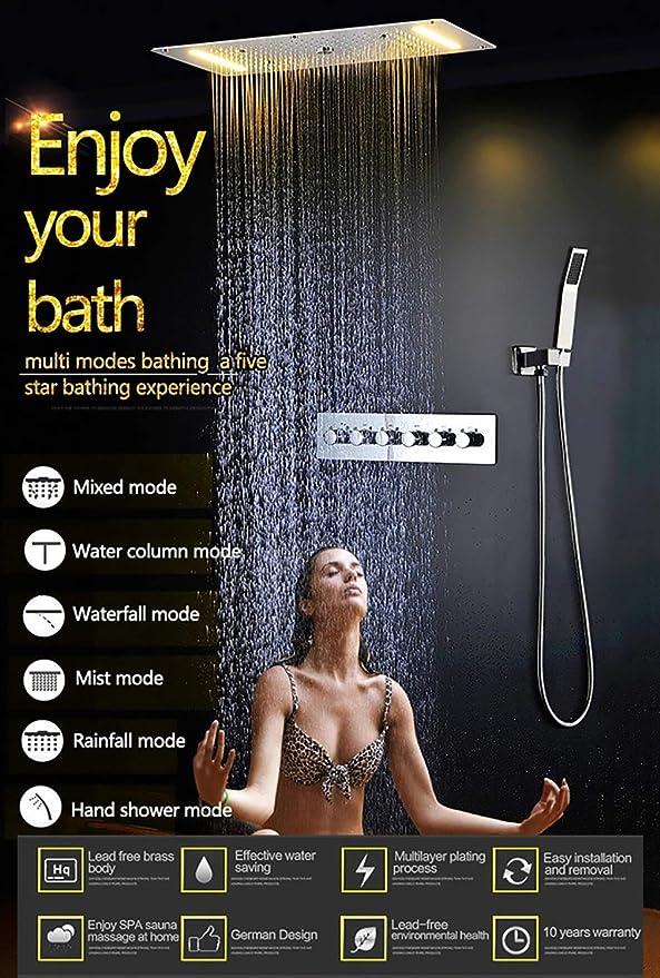 Cascada Luxury - Sistema termostático LED de montaje en techo ...