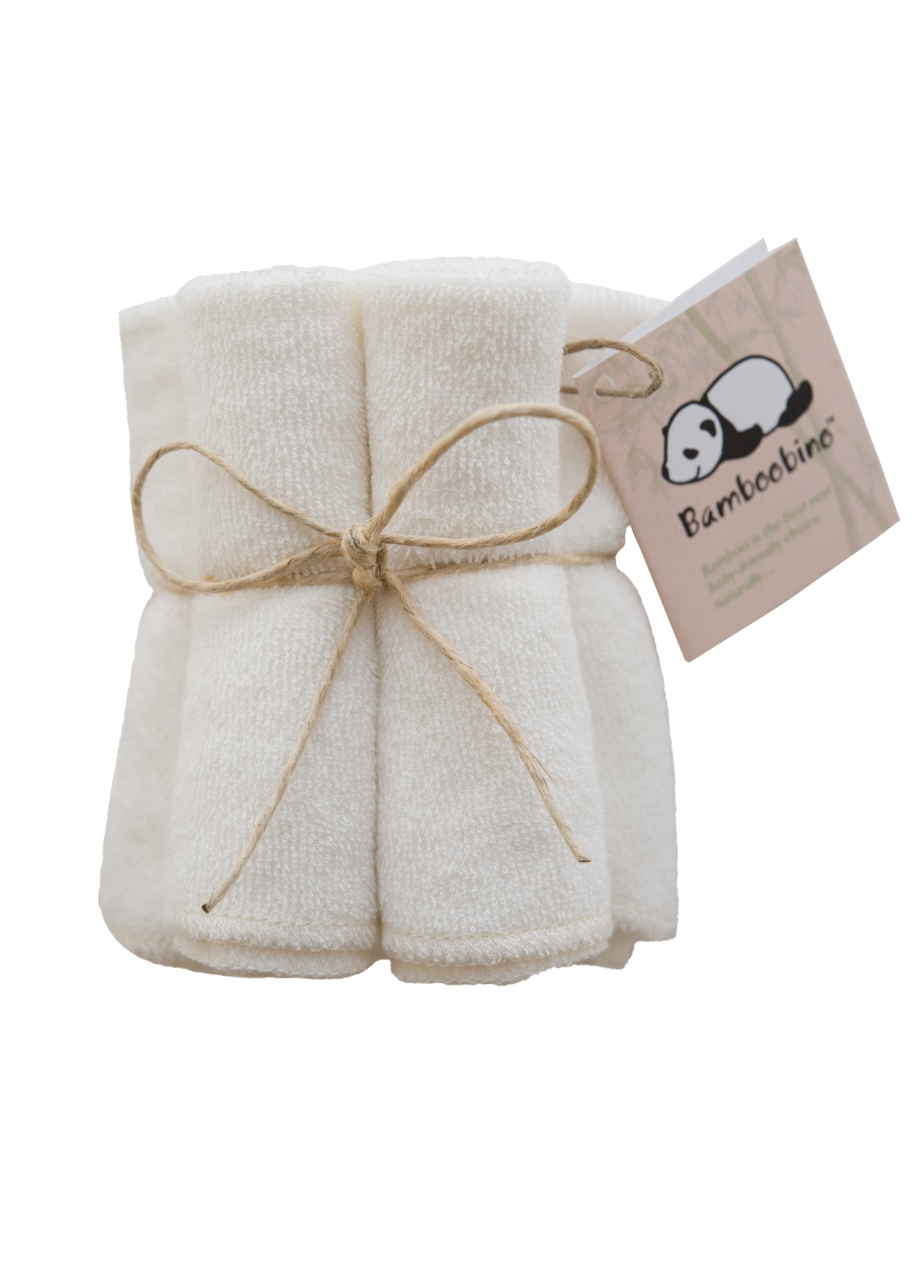 Bamboobino Baby Washcloths / Reusable Wipes (5-pack) Dye-Free, Super Soft and Absorbent Rayon from Bamboo & Organic Cotton Blend by *BAMBOOBINO*