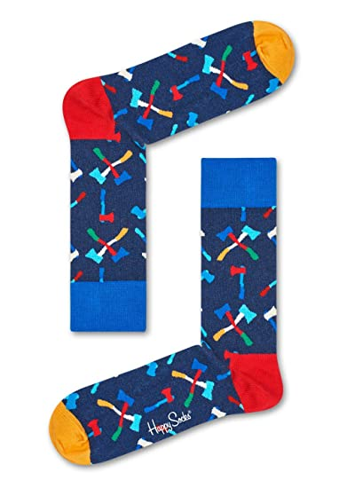 Happy Socks Axe Sock, Calcetines para Hombre, Azul (Navy 6000), Talla