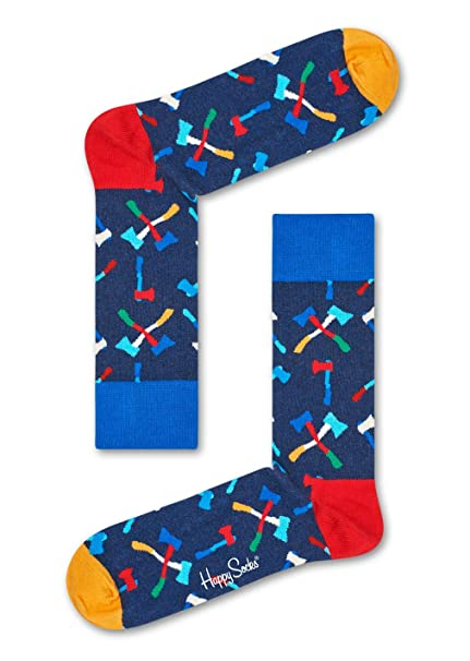 Happy Socks Axe Sock, Calcetines Casual para Mujer, Azul (Navy 6000), Talla única(Pack de 6): Amazon.es: Ropa y accesorios