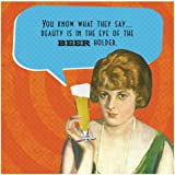 "80 Napkins - (IM)Proper Greetings 5"" Square 'Beer Holder' Funny Cocktail Party Napkins"