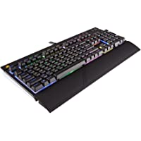 CORSAIR STRAFE RGB Mechanical Gaming Keyboard - USB Passthrough - Tactile and Quiet - Cherry MX Brown Switch - RGB LED Backlit