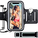 Gritin Running Armband for iPhone 12/12 Pro/12 Pro Max/11/11 Pro/XS/XR/X Up to 6.7', Skin-Friendly Sweatproof Sports…