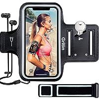 Gritin Opaska do biegania do iPhone'a 12/12 Pro / SE 2020/11/11 Pro / XS / XR / X, przyjazna dla skóry, odporna na pot…