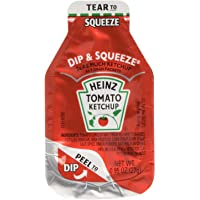 Heinz Tomato Ketchup, 0.95-Ounce Single Serve Packages (Pack of 100) --- 3x More Ketchup Than The Standard .32oz Packets by Heinz