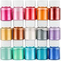 Funxim Pigmentos en Polvo 15pcs × 10g, Pigmentos