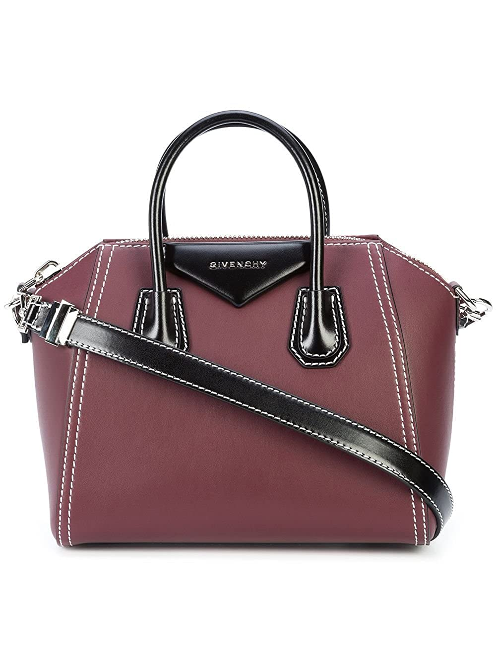 16f250e5b62b Amazon.com  Givenchy Antigona Bicolor BB05117547 Red Small Satchel  Shoes