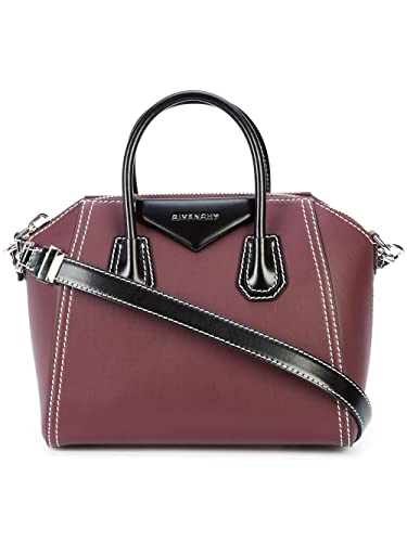 64162d9a1f Amazon.com  Givenchy Antigona Bicolor BB05117547 Red Small Satchel ...