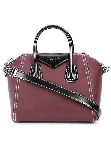 61d10f19279d Amazon.com: Givenchy Antigona Bicolor BB05117547 Red Small Satchel: Shoes