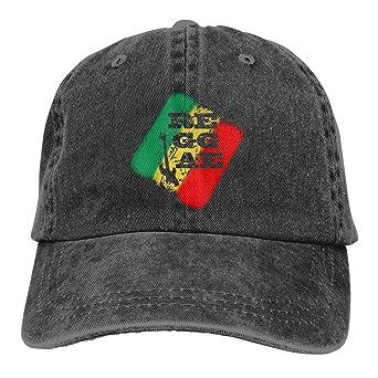 Hoswee Hombres Mujer Gorra Beisbol,Snapback Sombreros Reggae Rasta ...