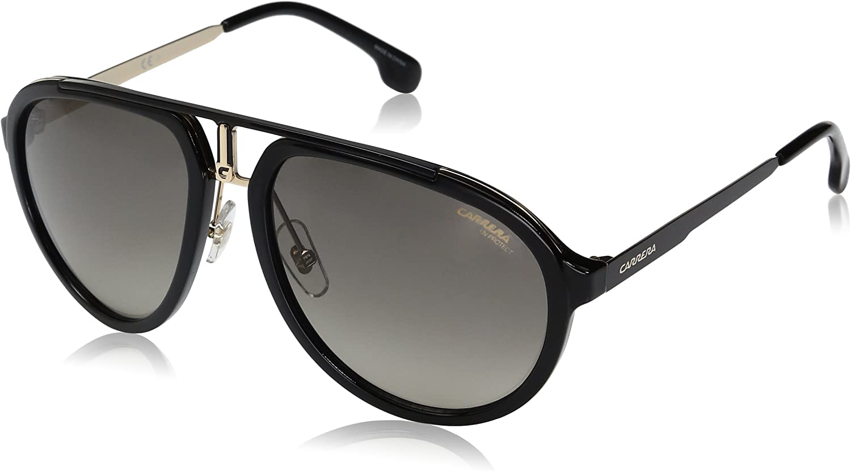 Carrera 1003/S PR 807 Gafas de sol, Negro (BLACK/GREYBROWN DS), 58 Unisex-Adulto