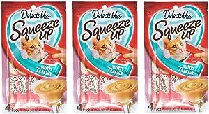 Delectables Squeeze Up Hartz Cat Treats Bundle of 3 Flavor Pouches, 2.0 oz Each