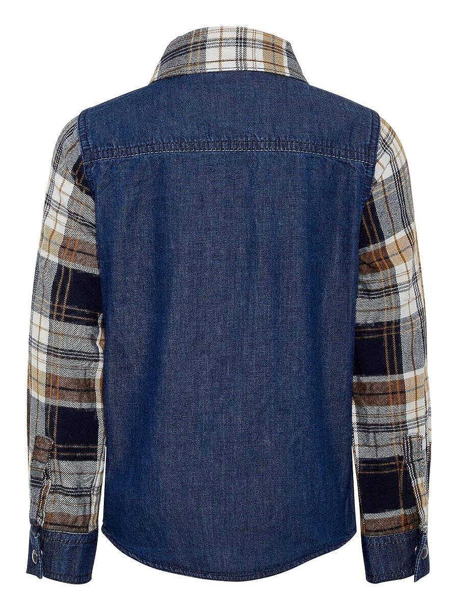 Shirt Saturn mit Karo in Dark Sapphire NAME IT Mini Jungen Hemd