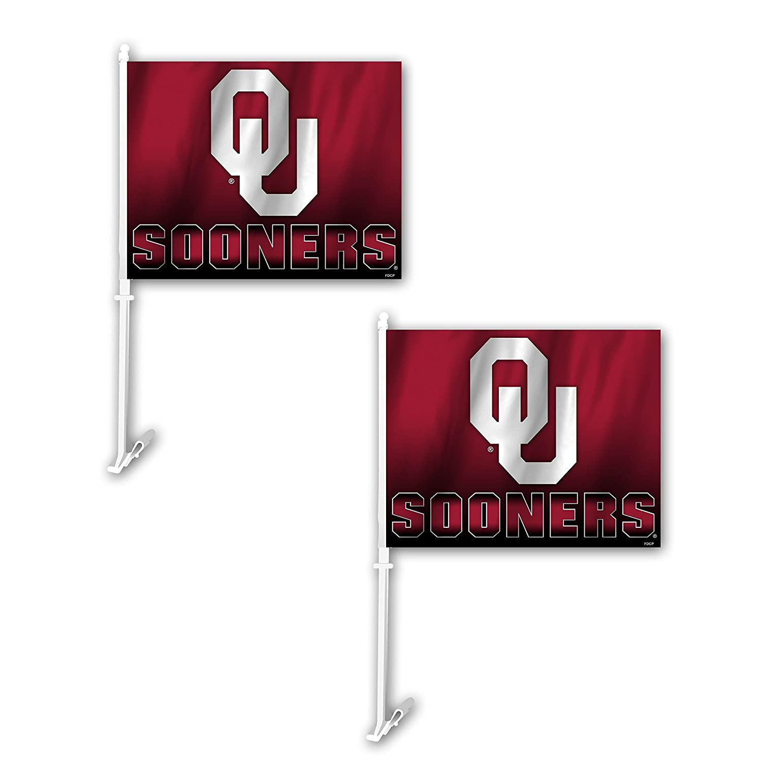 Fremont Die NCAA Oklahoma Sooners Ombre Car Flag (2 Pack), One Size, Red Inc 192959801590