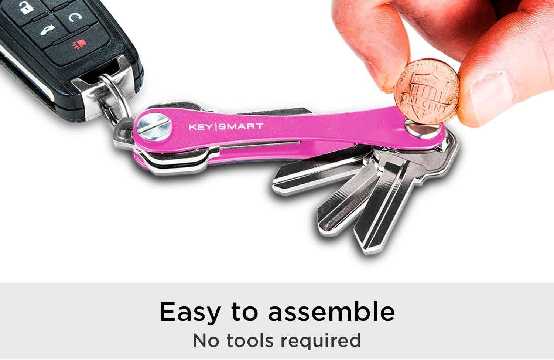 2 /à 8 cl/és, Bleu KeySmart Extended Organisateur et Porte-cl/és compact