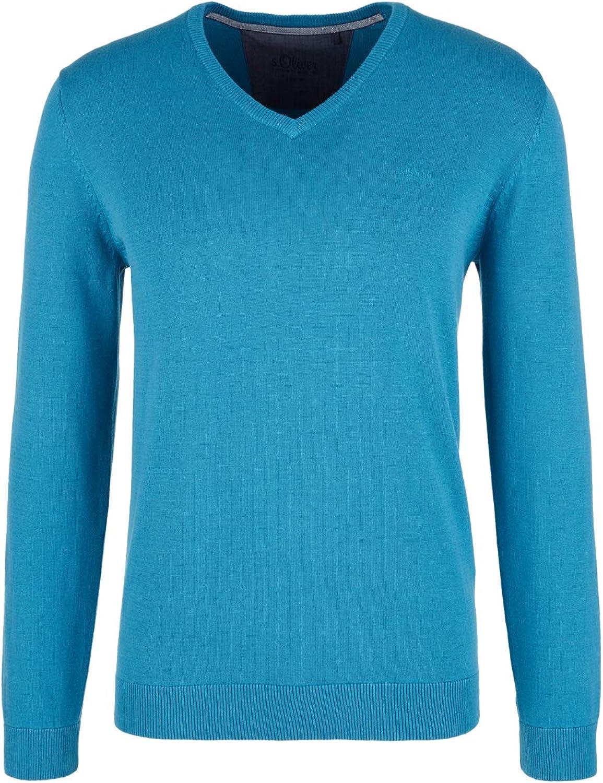 s.Oliver Herren Pullover Blau (Federal Blue Melange 64w0)
