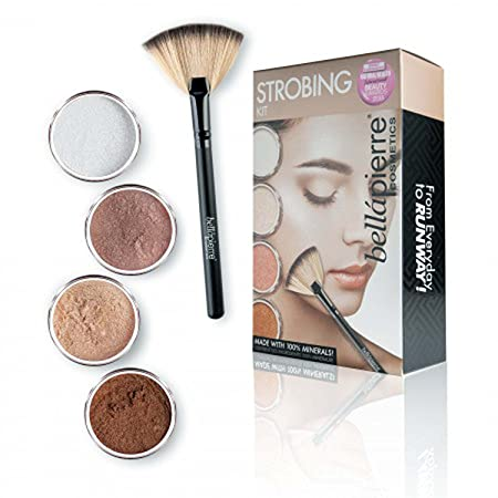 B llapierre Cosmetics Strobing Kit with Four Illuminator Options Suiting Different Skin Tones