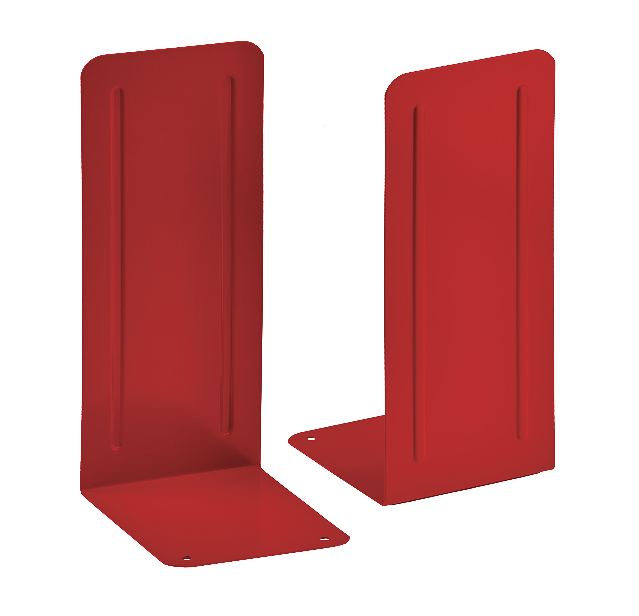 Acrimet Jumbo Premium Bookends 9'' (Red Color) (1 Pair)
