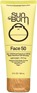 product image for Sun Bum Original SPF 50 Sunscreen Face Lotion | Vegan and Reef Friendly (Octinoxate & Oxybenzone Free) Broad Spectrum Fragrance-Free Moisturizing UVA/UVB Sunscreen with Vitamin E , Yellow , 3 oz