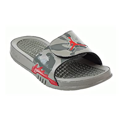 4beede6d01b4ec Jordan Hydro 5 Retro Men s Slides Dark Stucco University Red 555501-051 (12