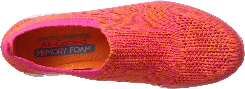 Skechers Empire Inside Look Slip-On Damen Schuhe Sneaker Memory Foam 12419-ORHP