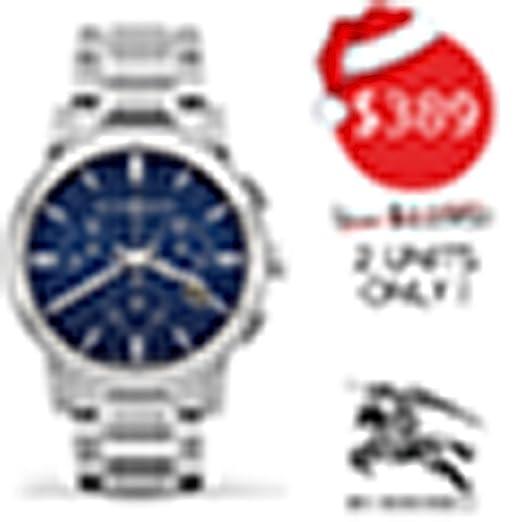Burberry The City BU9363 - Reloj cronógrafo de Acero Inoxidable con Correa de Acero Inoxidable y
