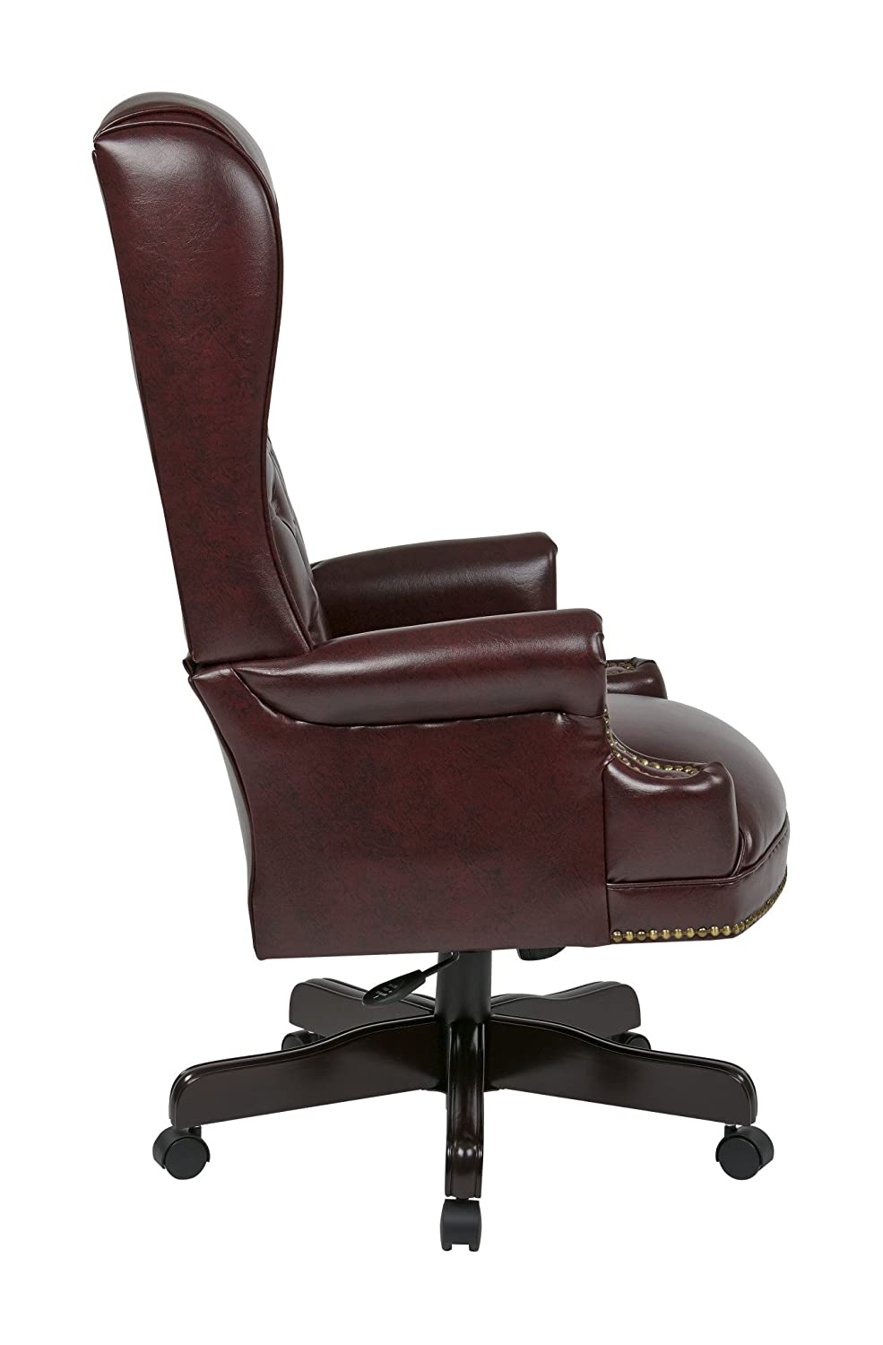 amazon com office star deluxe high back traditional executive chair