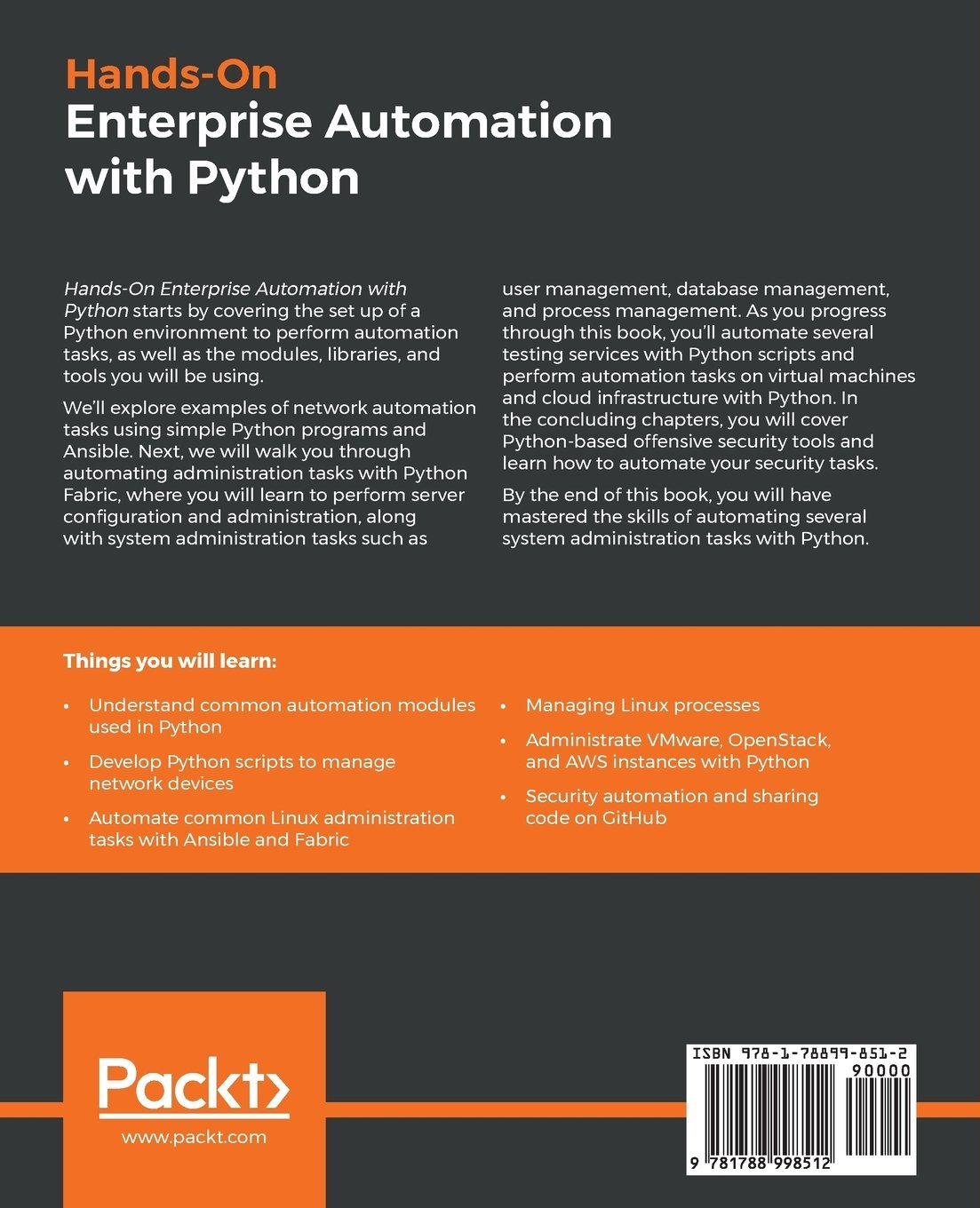 Buy Hands-On Enterprise Automation with Python: Automate common